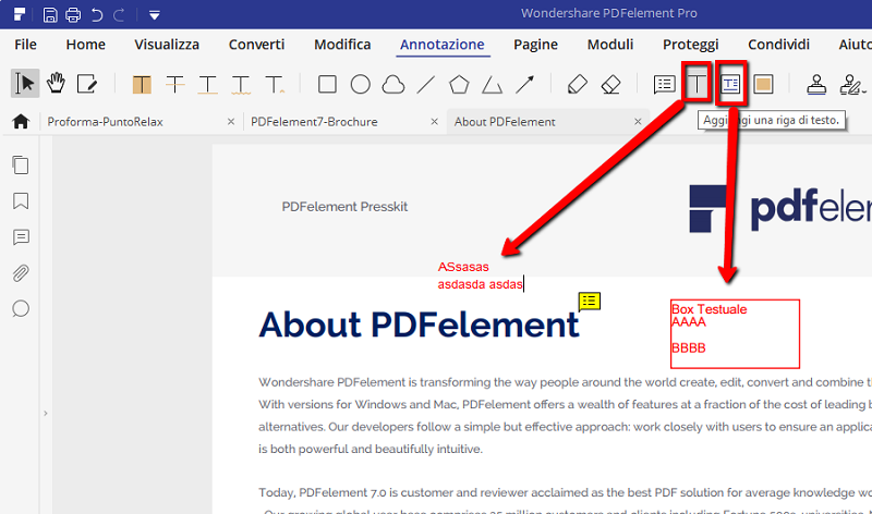 Modifica i tuoi PDF direttamente dal browser.