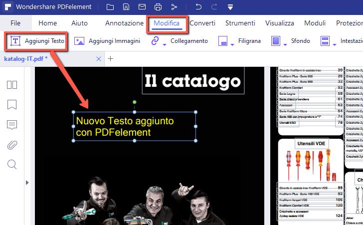 Come modificare inserire o rimuovere testo pdf - Gemelli diversi cosa vuoi testo ...